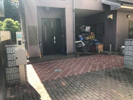 外構工事(インターロッキング敷設、ポストユニット取付)石岡市