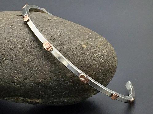 Sterling Copper Bracelet