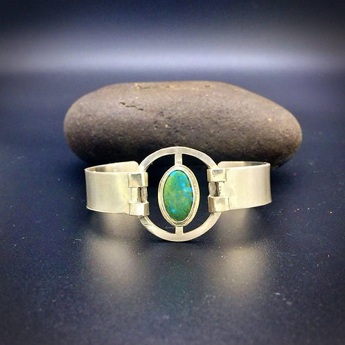 Southwestern Silver & Turquoise Bracelet