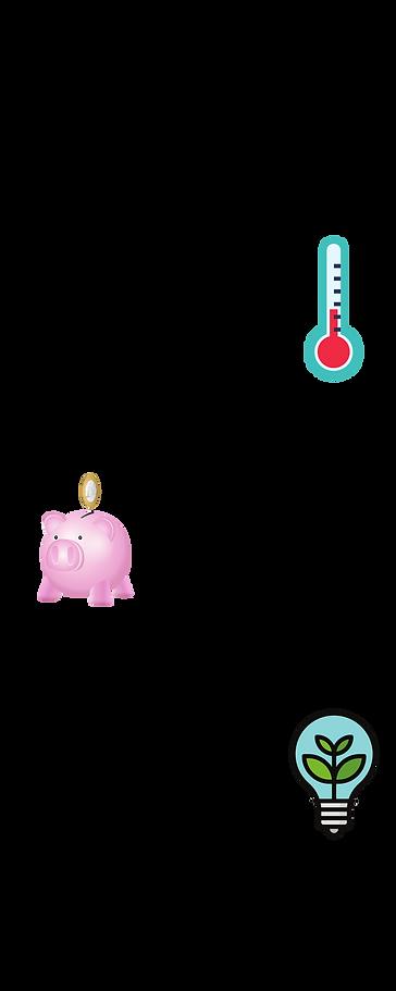Schéma montrant les avantages de la Pompe à chaleur