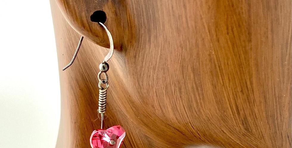 Swaroski Red Heart Earring Gena Goodrich 3997