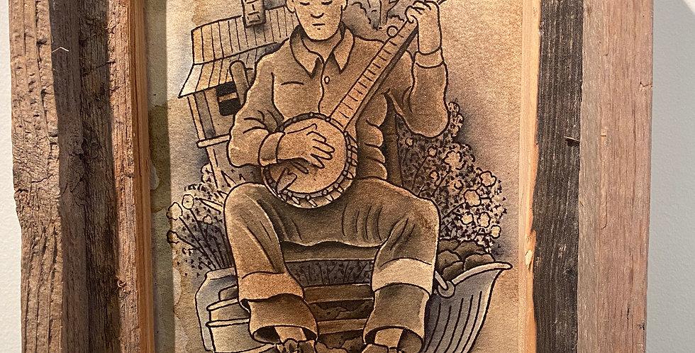 "John Haywood ""Untitled"" Original Lee Sexton Tribute"