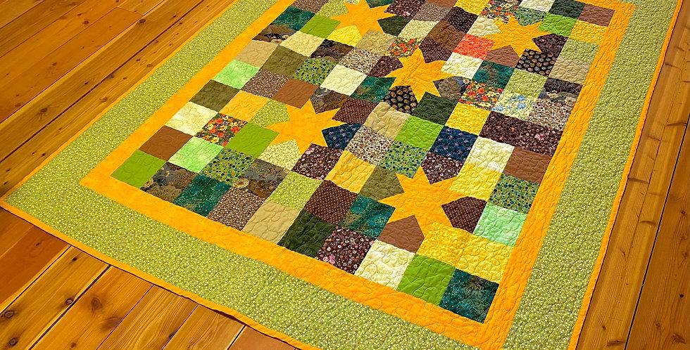 Orange and Green Quilt Girdalee Adams