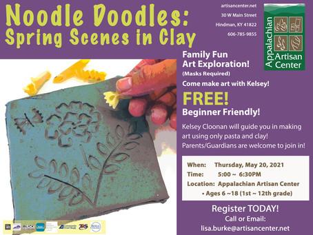 Noodle Doodles: Spring Scenes in Clay