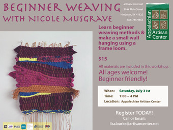Beginner Weaving with Nicole Musgrave