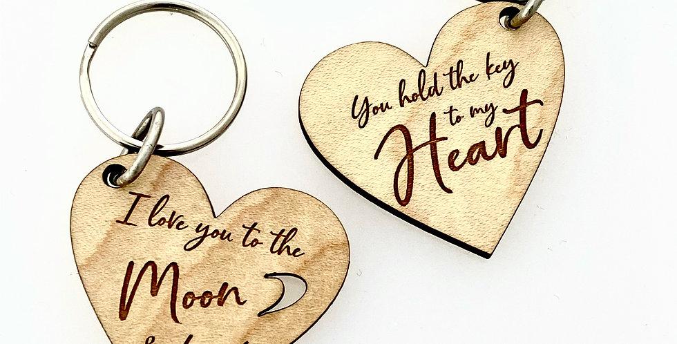 Wood Heart Key Chain John Marcum 5985