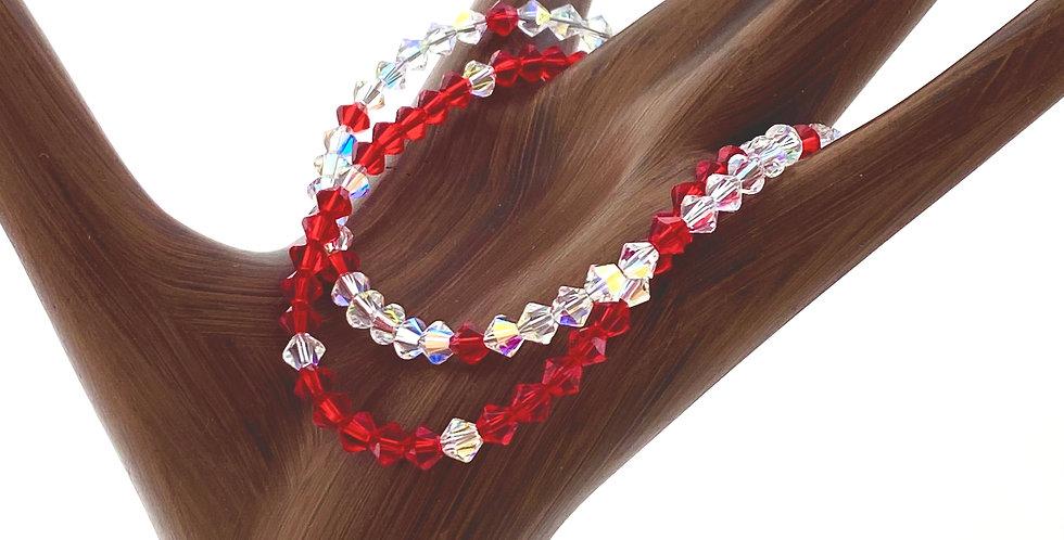 Red and AB Swarovski Bracelet Angela Ashley 5263