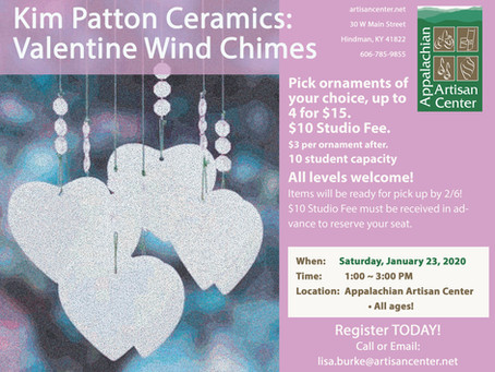 Kim Patton Ceramics: Valentines Wind Chime Workshop