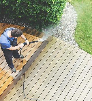 lavagem do quintal