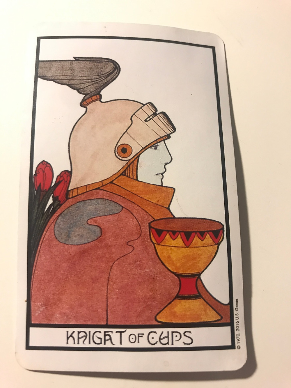 Knight of Cups Tarot Card from the Aquarian Tarot
