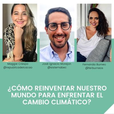 Webinar: ¿Cómo reinventar nuestro mundo para enfrentar el cambio climático?