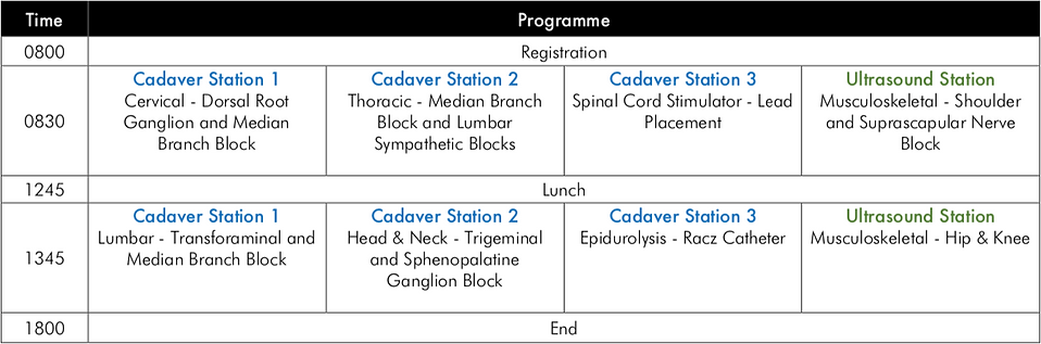 PAS ASM Cad Workshop Programme
