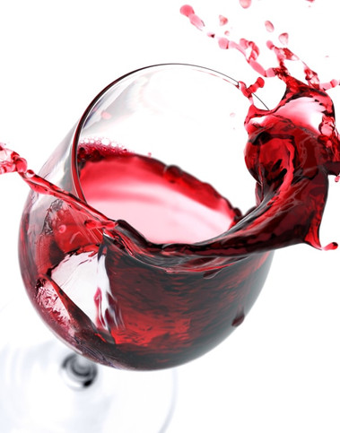 An image oa glass that will open the section of Italian red wines belonging to the Sportoletti Umbrian wienery