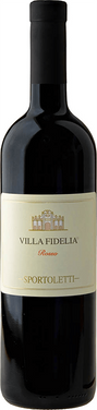 A bottle of Villa Fidellia a unique Italian wine that is produce by the Sportoletti family in Assisi and is a fine example of Umbrian local products
