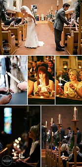 Reverse unity candle