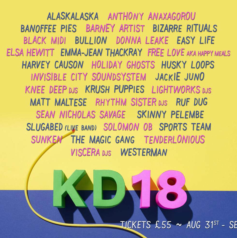 KD18 Line Up