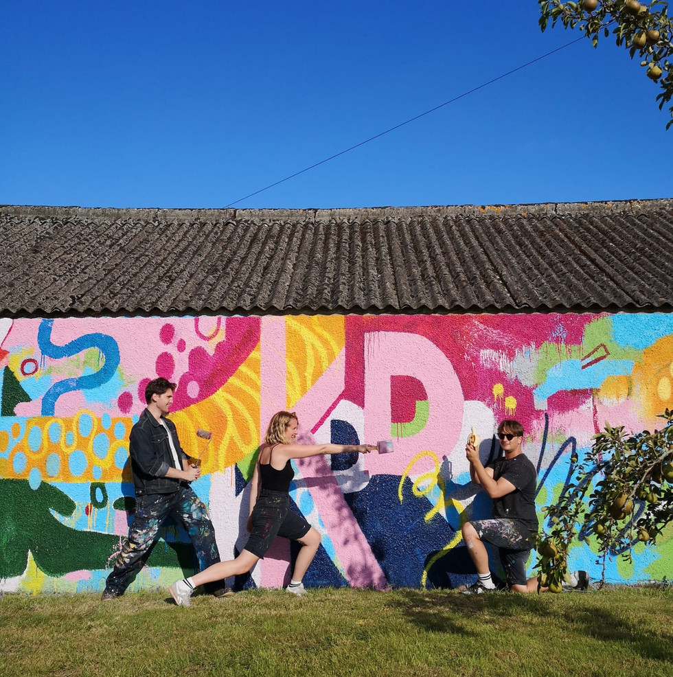 LOCI and their mural at KD19