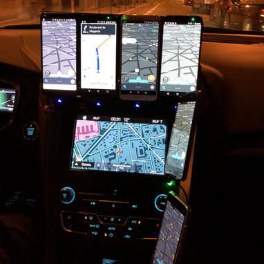 Instrument de bord d'un Uber-équipé