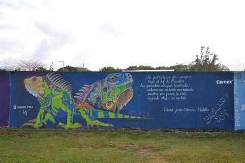 Bakalarte : oeuvre by Filiberto Ayala et poème de Daniel Jesus Cabrera Padilla