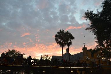 Puente de los suspiros au coucher du soleil