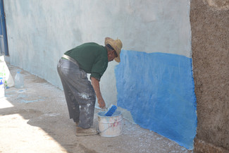Peintre bleu