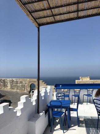 Vue de la terrasse du Salon Bleu