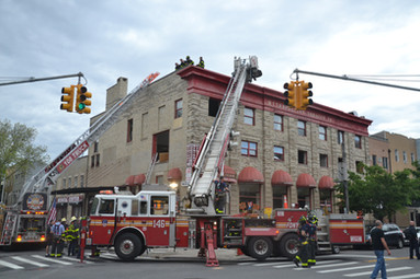 Pompiers en action à Brooklyn