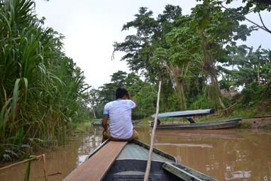 Moises sur le bateau
