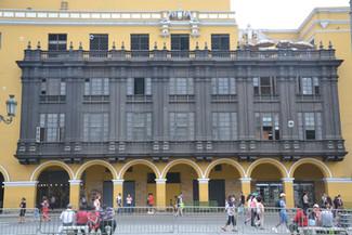 Balcon en bois de la plaza de Armas