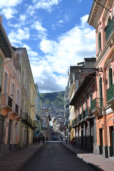 Rue du centre historique de Quito