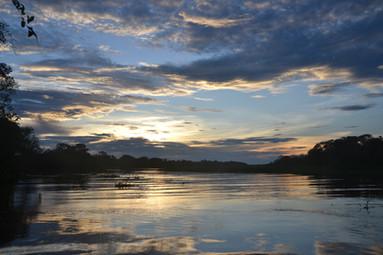 Coucher du soleil en Amazonie