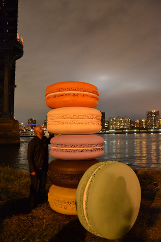Macarons géants au Dumbo Festival