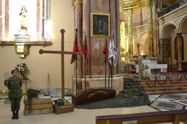 Cérémonie en l'honneur des soldats tombés pendant la guerre del Cenepa