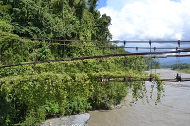Ancien pont de Pilcopata sur le fleuve Madre de Dios