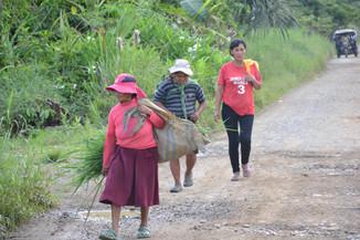 Arrivée au village