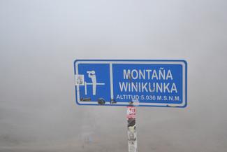 5036 mètres d'altitude
