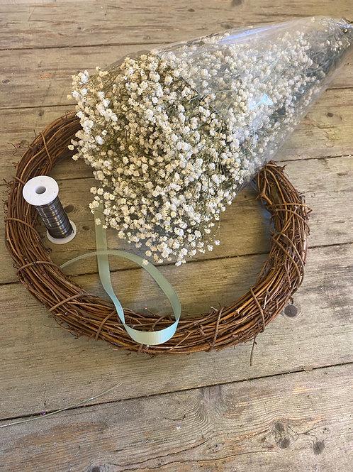 Gypsophila Wreath Kit - Handmade
