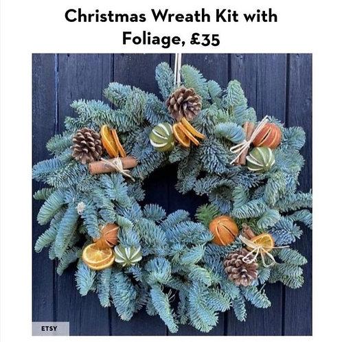 Make your own Christmas wreath kit