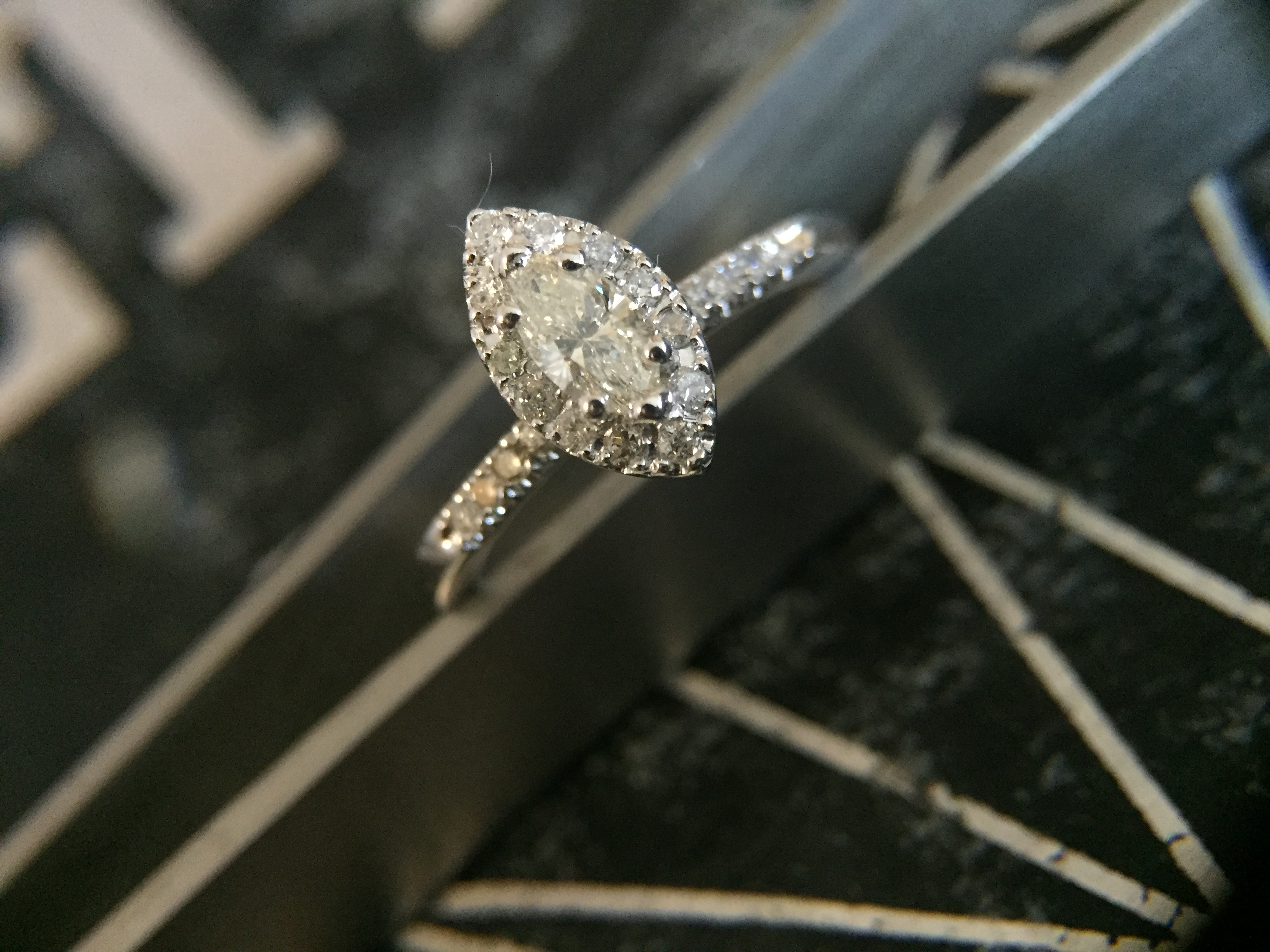 Marquise Diamond w/ Halo