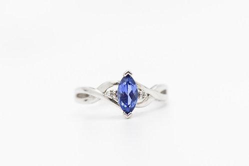 Tanzanite & Diamond Cocktail Ring 10K