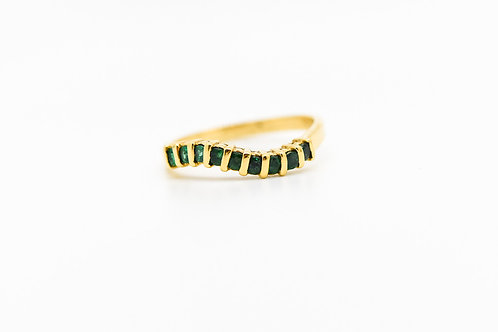 Emerald Cocktail Ring 14K
