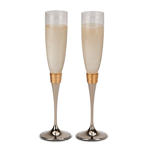 Gold Crystal Flutes