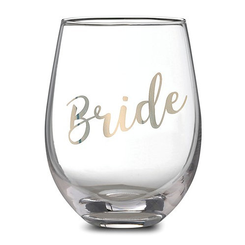 Bride Stemless Wine Glass