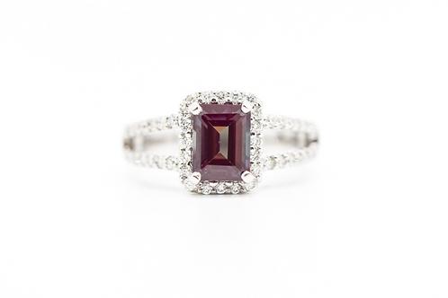 Alexandrite & Diamond Cocktail Ring 14K