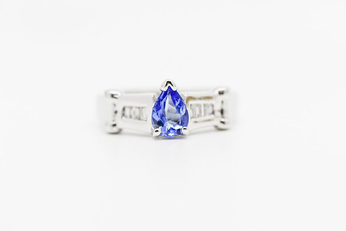 Diamond & Tanzanite Cocktail Ring 14K