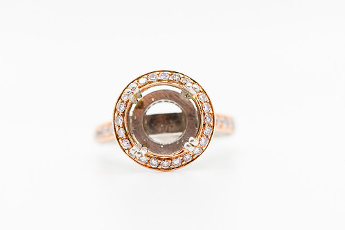 Diamond Semi Mount 18K/ PLAT