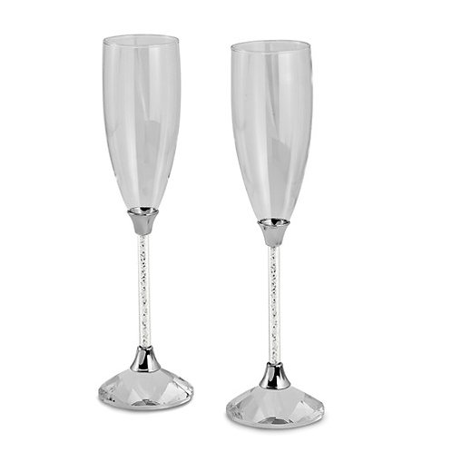 Silver Crystal Flutes