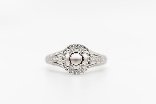 Diamond Semi Mount 18K