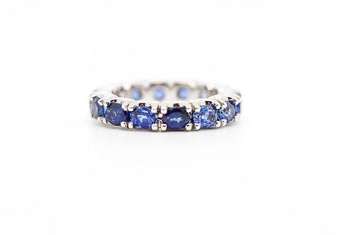 Sapphire Wedding Band 14K