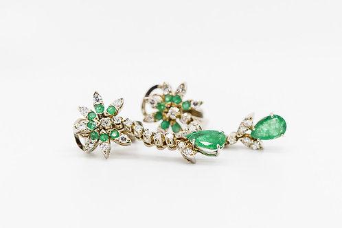 Emerald & Diamond Earrings 18K